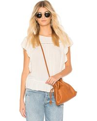 Velvet By Graham & Spencer - Sidney Top In Ivory - Lyst