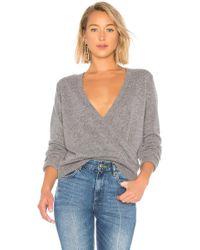 Equipment - Dante V Back Sweater In Gray - Lyst