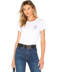 Rag & Bone - Double Heart Tee - Lyst