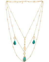 Vanessa Mooney - Cowboy Multi Strand Necklace In Metallic Gold. - Lyst