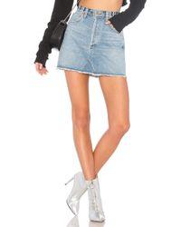 Agolde - Quinn Hi Rise Mini Skirt - Lyst