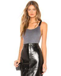 Only Hearts - Ultra Suede Glow Bodysuit In Grey - Lyst