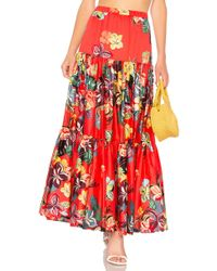 Alexis - Gauri Skirt In Red - Lyst