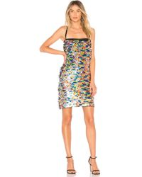 MILLY - Sequins Mini Dress - Lyst