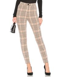 Free People - Carnaby Plaid Pant In Orange - Lyst