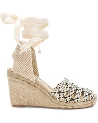 Free People - Amalfi Coast Wedge In Beige - Lyst