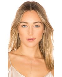 EF Collection - Open Teardrop Adjustable Lariat Necklace - Lyst