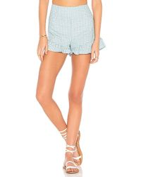 MINKPINK - Toto Gingham Shorts - Lyst