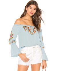 Cupcakes And Cashmere - Adrien Off The Shoulder Top - Lyst