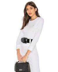 Stateside - Ribbed Crew Crop Top In White - Lyst