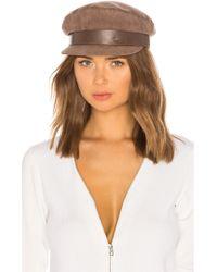 Don - Suede Sailor Cap In Brown - Lyst
