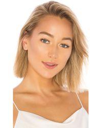 EF Collection - Diamond Open Heart Stud Earring - Lyst