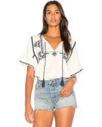 Ella Moss | Marini Embroidered Top | Lyst