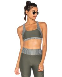 All Fenix - Olive Stone Stripe Sports Bra - Lyst