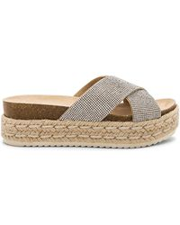 Steve Madden - Arran Slide In Metallic Silver - Lyst