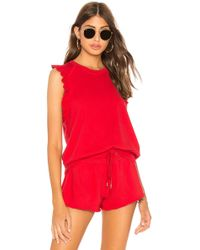 David Lerner - Ruffle Sleeveless Pullover In Red - Lyst