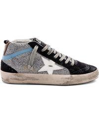 Golden Goose Deluxe Brand - Mid Star Sneaker In Metallic Silver - Lyst