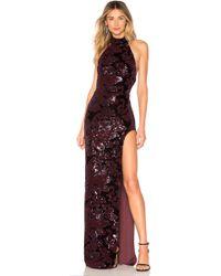 Michael Costello - X Revolve Penelope Gown In Purple - Lyst