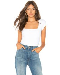 Free People - Square Eyes Bodysuit In White - Lyst