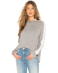 Monrow - Two Tone Supersoft Turtleneck Sweatshirt In Gray - Lyst