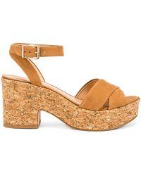 4f5580c54614 Lyst - Steve Madden  dame  Platform Sandal in Metallic