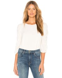 1.STATE - Long Sleeve Ruched Sleeve Blouse In White - Lyst