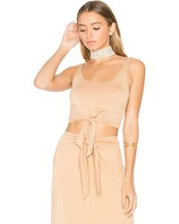 House of Harlow 1960 - X Revolve Evie Top In Tan - Lyst
