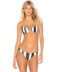 Mikoh Swimwear - Lima Bikini Top In Green - Lyst