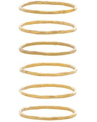 Mimi & Lu - Stackable 6 Ring Set In Metallic Gold. - Lyst