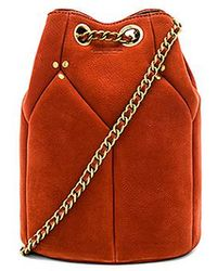 Jérôme Dreyfuss - Popeye Bucket Bag In Rust. - Lyst