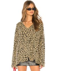 LNA - Leopard Bitten Sweater - Lyst