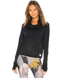 Maaji - Hooded Long Sleeve Top In Black - Lyst