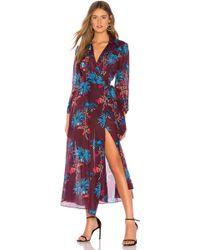 Diane von Furstenberg - Collared Wrap Dress In Purple - Lyst