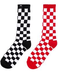 Stussy - Checker Sock Pack - Lyst