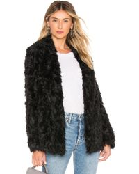 Theory - Clairene Faux Fur Coat In Black - Lyst