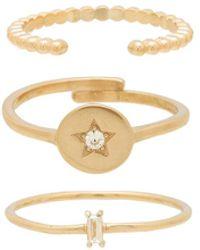 Natalie B. Jewelry - Cosmos Ring Set In Metallic Gold. - Lyst