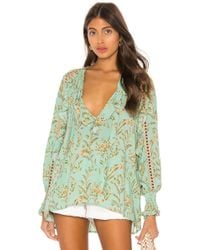 Spell & The Gypsy Collective - Blusa maisie en color azul - Lyst