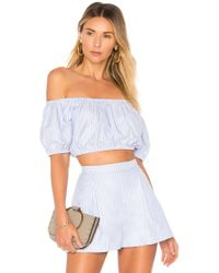 f70f78d4520 MDS Stripes - X Revolve Off Shoulder Top In Baby Blue - Lyst
