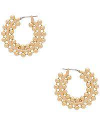 Auden - Nicoletta Hoop Earrings - Lyst