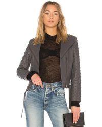 Lamarque - Ella Moto Jacket In Charcoal - Lyst
