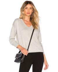 Bobi - Cashmere V Neck Sweater - Lyst