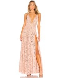 Michael Costello - X Revolve Victory Gown In Blush - Lyst