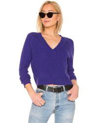 27milesmalibu - Bette Sweater In Purple - Lyst