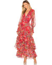Alexis - Vestido largo solace en color rojo - Lyst