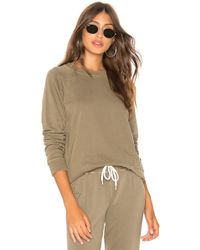 Monrow - Star Dust Pullover In Olive - Lyst