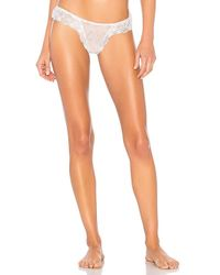 Eberjey - Kiss The Bride Thong In White - Lyst
