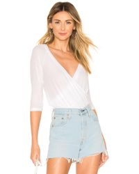 Lyst - Only Hearts Feather Weight Rib T-shirt Bodysuit in White ea3872cdb
