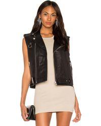 LPA - Leather Moto Vest - Lyst