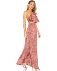 House of Harlow 1960 - X Revolve Zoe Halter Dress In Pink - Lyst