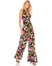 MILLY - Halter Jumpsuit - Lyst